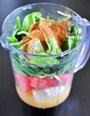 Cách làm sinh tố dưa hấu rau cải bó xôi thơm mát, lạ miệng
